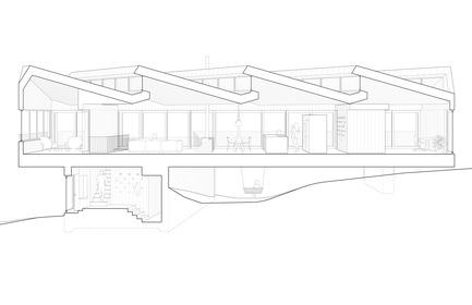 Dossier de presse | 3177-01 - Communiqué de presse | La résidence « Sky House » - Julia Jamrozik and Coryn Kempster - Architecture résidentielle -         Section Perspective - Crédit photo : Coryn Kempster