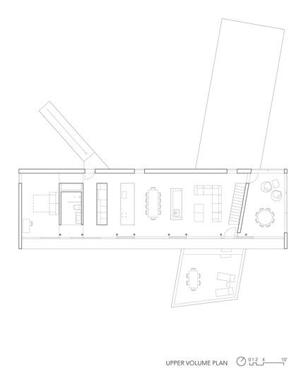 Dossier de presse | 3177-01 - Communiqué de presse | La résidence « Sky House » - Julia Jamrozik and Coryn Kempster - Architecture résidentielle -         Upper Volume Plan - Crédit photo : Coryn Kempster