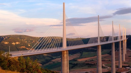 Press kit | 748-33 - Press release | Fostering Society: Foster + Partners: Exhibition on Responsible Architecture Pioneers at the UQAM Centre de Design - UQAM Centre de Design - Event + Exhibition - 2004 - Millau Viaduct, France - Photo credit: Foster + Partners