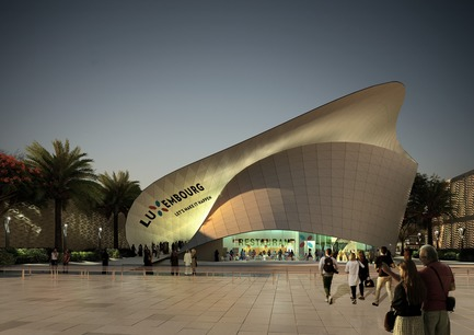 Press kit | 1018-06 - Press release | METAFORM Architects Opens Subsidiary in Dubai - Metaform architects - Event + Exhibition -  Luxembourg Pavilion at DUBAI EXPO2020 - Exterior view - Photo credit:  Metaform - Vyonyx