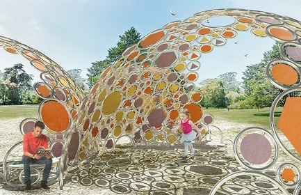 Press kit | 3136-03 - Press release | Bubble Shade - Valerie Schweitzer Architects - Landscape Architecture - Photo credit: Hacken Li
