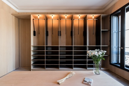 Press kit | 2180-02 - Press release | L'hôtel de Bethmann - Martins | Afonso atelier de design - Residential Interior Design - Dressing room - Photo credit: Mickaël Martins Afonso