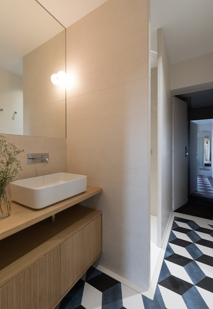 Press kit | 2180-02 - Press release | L'hôtel de Bethmann - Martins | Afonso atelier de design - Residential Interior Design - Bathroom - Photo credit: Mickaël Martins Afonso