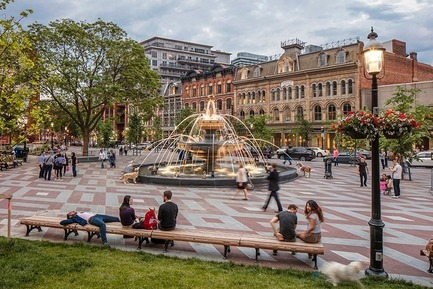 Press kit | 673-19 - Press release | Dévoilement des lauréats de la 11e édition des GRANDS PRIX DU DESIGN - Agence PID - Competition - Landscape Architecture and Public Outdoor Design Award<br>Berczy Park, Toronto<br>Claude Cormier + Associés - Photo credit: Industryous Photography