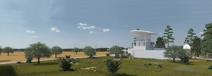 Press kit   1136-07 - Press release   Sarah Mag Toumi Rural Agora for Bir Sallah(El Hencha), Tunisia - Philippe Barriere Collective Tn (PB+Co) - Commercial Architecture -  Internet Coffee Shop Restaurant (multi purpose rural space: wedding, social and public meetings, conference area (ground floor) etc...).&nbsp;<br>Renovation and expansion of an existing slaughterhouse (the walls and the building are preserved).<br>The upper part of the coffee shop dominate the landscape. The most private part is protected by walls<br><br>Surface:&nbsp;8675,71 SQF<br>Café/restaurant&nbsp;&nbsp;2 floors and ground floor (6270SQF)<br>Services: 1290 SF<br>Shaded enclosed garden : 4010 SQF<br>     - Photo credit: Yosri Boukadida&nbsp;