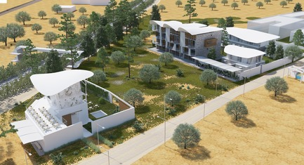 Press kit   1136-07 - Press release   Sarah Mag Toumi Rural Agora for Bir Sallah(El Hencha), Tunisia - Philippe Barriere Collective Tn (PB+Co) - Commercial Architecture -   The Agora designed for a rural environment is a space for civic exchange offering services to the local community and allowing manging modes of production (organic agriculture, crafts) - and offering spaces for education and creation (artistic and craft). <br><br> It is a new model to facilitate rural development in the regions. Its aim is to be a meeting place where innovation and tradition complement each other to foster revitalization, diversification and empowerment of regions. This compatibility makes it possible to create a new middle point of balance between civic, social, economic, cultural, educational and environmental.   - Photo credit: Yosri Boukadida