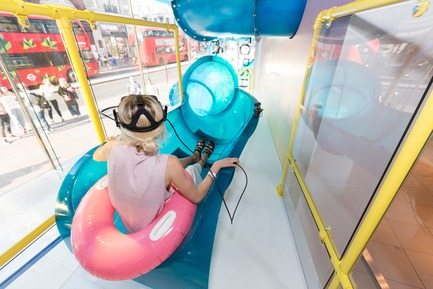 Press kit | 3220-01 - Press release | Topshop Splash! - YourStudio - Commercial Interior Design - VR waterslide experience in Topshop's iconic flahship location  - Photo credit:   Topshop
