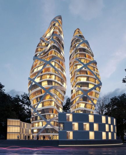 Press kit | 2182-02 - Press release | Towers of Love - Alva Roy Architects - Residential Architecture - Photo credit: ALVA ROY ARCHITECTS
