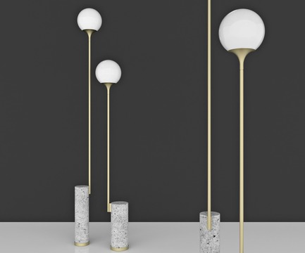 "Press kit | 3267-01 - Press release | Manfredi Style Presents ""Aesthetic Visions"" for Fuorisalone, Milano Design Week 2018 - Manfredi Style - Event + Exhibition - Ion Floor Lamps by Caroline Ficker  - Photo credit: Image Courtesy of Caroline Ficker (Brazil)"