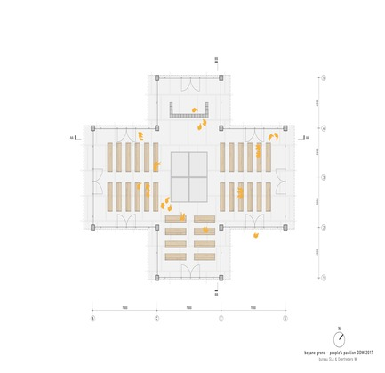 Dossier de presse | 3293-01 - Communiqué de presse | People's Pavilion - 100% Borrowed - bureau SLA & OvertredersW - Urban Design - plan - Crédit photo : bureau SLA