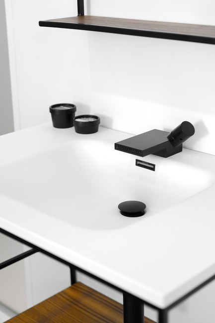 Press kit | 2342-03 - Press release | WETSTYLE dévoile C2 une nouvelle collection de meubles-lavabos et d'accessoires - WETSTYLE - Product - Element Collection washbasin - Photo credit: WETSTYLE