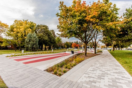 "Press kit | 2366-02 - Press release | Strong Graphics for Montreal's ""Parc Guido-Nincheri"" - civiliti - Urban Design - Photo credit: Stéphane Najman"