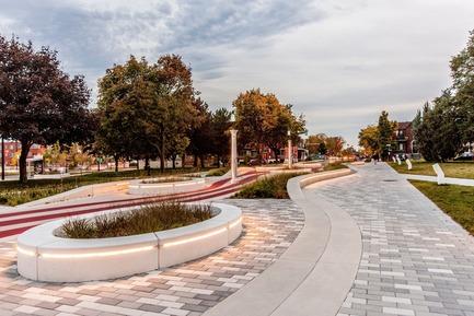 Dossier de presse | 2366-02 - Communiqué de presse | Un graphisme fort pour le parc Guido-Nincheri à Montréal - civiliti - Design urbain - Crédit photo : Stéphane Najman