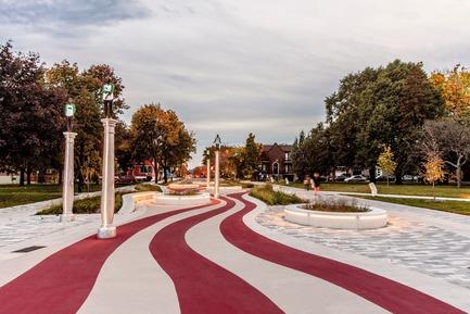 Press kit | 2366-02 - Press release | Un graphisme fort pour le parc Guido-Nincheri à Montréal - civiliti - Urban Design - Photo credit: Stéphane Najman