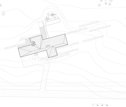 Dossier de presse | 721-08 - Communiqué de presse | Résidence de la Vallée du Parc - Chevalier Morales architectes - Architecture résidentielle - Plan d'implantation - Crédit photo : Chevalier Morales Architectes