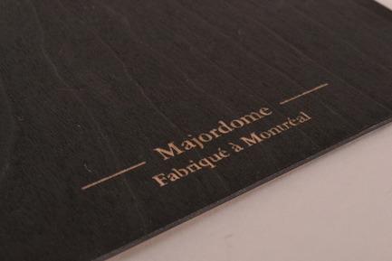Dossier de presse | 884-02 - Communiqué de presse | Projet HEC édition 2012 - École de design industriel de l'Université de Montréal - Évènement + Exposition - Cahier de notes Majordome - Crédit photo : Muriel El Helou