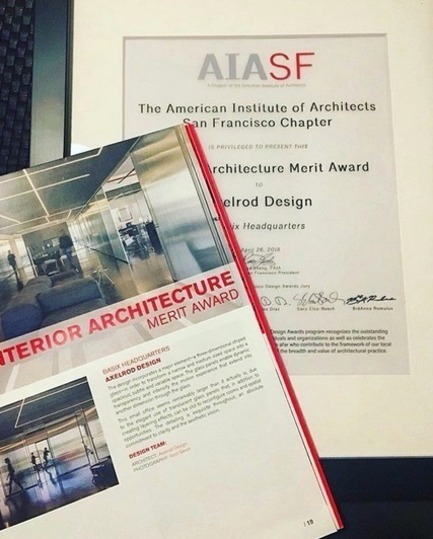 Press kit | 2949-05 - Press release | Basix HQ Wins AIA SF Award2018 - Axelrod Design - Commercial Interior Design -    2018 AIA SF Interior Architecture Merit Award - Basix HQ by Axelrod Design<br>    - Photo credit: Irit Axelrod<br>