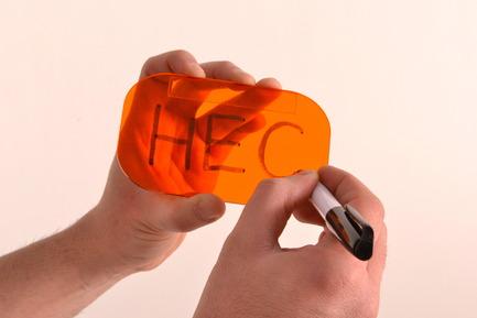 Dossier de presse | 884-02 - Communiqué de presse | Projet HEC édition 2012 - École de design industriel de l'Université de Montréal - Évènement + Exposition - Plaques d'affichage Plaket - Crédit photo : Muriel El Helou