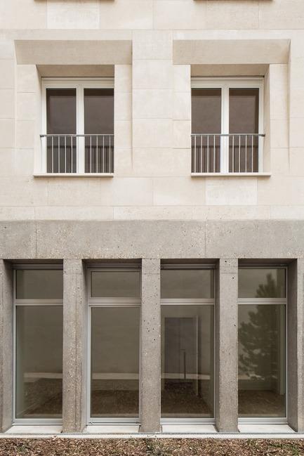 Dossier de presse | 3378-01 - Communiqué de presse | Social Housing Units in Massive Stone - Barrault Pressacco architectes - Residential Architecture - Barrault Pressacco - Oberkampf - Crédit photo : (c)Giaime-Meloni