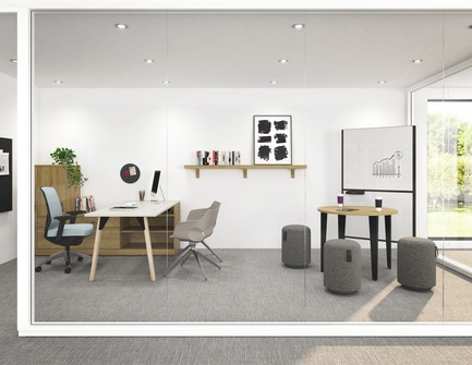 Press kit | 1867-03 - Press release | A New Office Furniture Distribution Group is Born - EMBLM - Commercial Interior Design -  A complete workspace by Artopex: from architectural walls to furniture.<br>Artopex&nbsp;is a partner of EMBLM - Photo credit:  Artopex