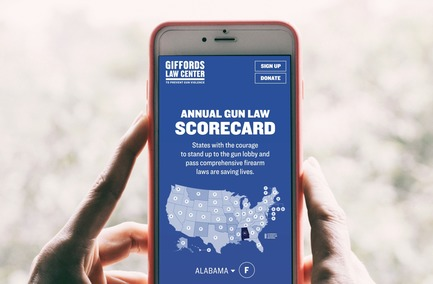 Press kit | 2949-07 - Press release | San Francisco Design Week First Annual Awards Debut - San Francisco Design Week - Competition - Giffords: Courage to Fight Gun Violence -- Giffords Gun Law Scorecard. <br> - Photo credit: Photo courtesy Giffords.