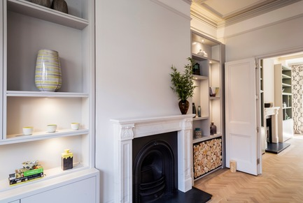 Press kit | 1701-04 - Press release | Victorian Townhouse, Highgate, London - LLI Design - Residential Interior Design - Living & Dining Room - Overview - Photo credit: Photography / Styling : Rick Mccullagh / LLI Design