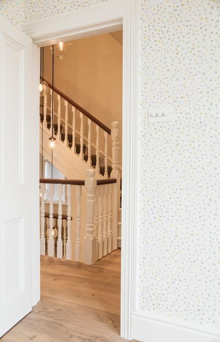 Press kit | 1701-04 - Press release | Victorian Townhouse, Highgate, London - LLI Design - Residential Interior Design - Nursery Suite / FF Hallway - Detail - Photo credit: Photography / Styling : Rick Mccullagh / LLI Design<br>