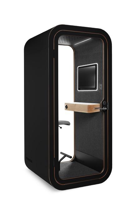 Dossier de presse | 3176-01 - Communiqué de presse | Les cabines acoustiques Framery: de nouveaux modèles à NeoCon 2018 - d|vision 21 - Produit - Modèle:Framery O- VideoConference ready     - Crédit photo : Framery