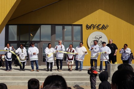 Dossier de presse | 3256-01 - Communiqué de presse | Nunavik's New Cultural Centre Opens Its Doors - Blouin Orzes architectes - Institutional Architecture - Opening Day Ceremony<br> - Crédit photo : Blouin Orzes architectes