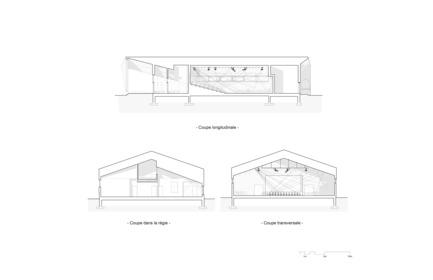 Dossier de presse | 3256-01 - Communiqué de presse | Un nouveau centre culturel ouvre ses portes au Nunavik - Blouin Orzes architectes - Architecture institutionnelle - Coupes - Crédit photo : Blouin Orzes architectes