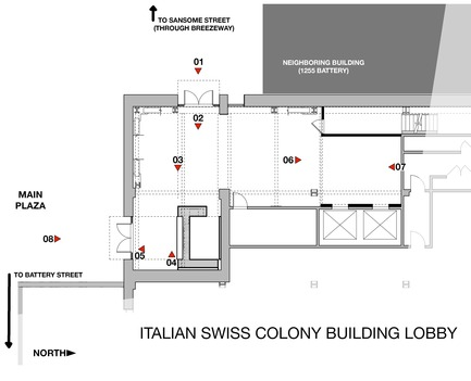 Press kit | 1771-02 - Press release | The Italian Swiss Colony Building Lobby Receives AIA SF Award - jones | haydu - Commercial Architecture - Floor Plan - Photo credit: jones | haydu
