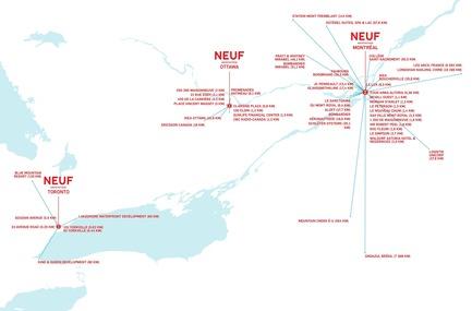 Dossier de presse | 1387-05 - Communiqué de presse | NEUF architect(e)s ajoute de la profondeur - NEUF architect(e)s - Évènement + Exposition - Trois bureaux de NEUF architect(e)s: Montréal - Toronto - Ottawa - Crédit photo : NEUF architect(e)s