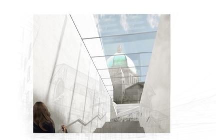Dossier de presse | 865-33 - Communiqué de presse | Un deuxième prix prestigieux reconnaissant l'excellence de la conceptualisation architecturale à l'Oratoire Saint-Joseph du Mont-Royal - Lemay - Concours - Ascension - Oratoire Saint-Joseph du Mont-Royal - Crédit photo : Lemay