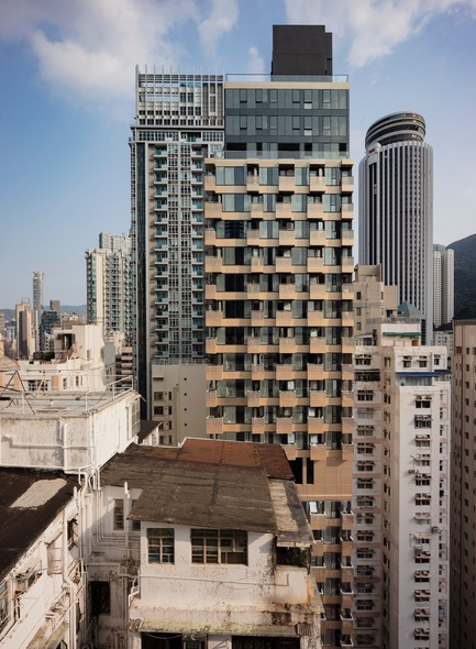 Dossier de presse | 2317-02 - Communiqué de presse | Make Completes High Rise Luxury Residential Tower in Wan Chai - Make Architects - Residential Architecture - Distinctive form on the skyline - Crédit photo : Archmospheres
