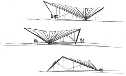 Dossier de presse | 2317-03 - Communiqué de presse | Make Unveils New Monocoque Pavilion for City of London - Make Architects - Commercial Architecture - Initial sketches - Crédit photo : Make Architects