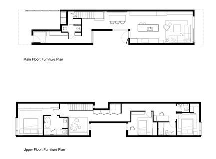 Press kit | 1876-01 - Press release | UnlikelyVancouver Lot Spurs Innovative House Design by Falken Reynolds Interiors - Falken Reynolds Interiors - Residential Interior Design - Floor Plan - Photo credit: Falken Reynolds