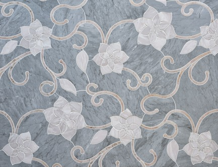 Dossier de presse | 1650-03 - Communiqué de presse | Launch of the French Quarter Collection - Mosaïque Surface - Product - Camellia Flower, FRENCH QUARTER COLLECTION - Crédit photo : Mosaïque Surface