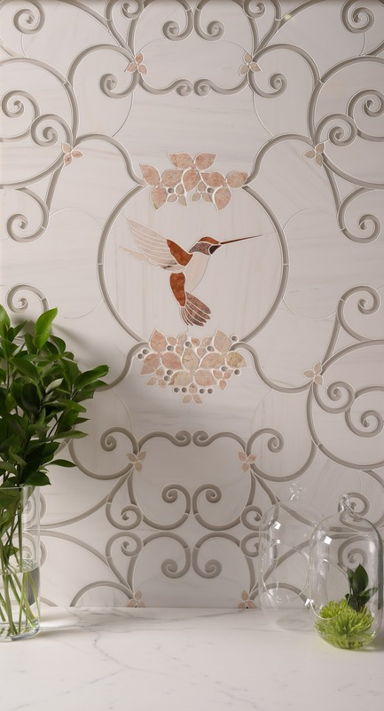 Press kit | 1650-03 - Press release | Launch of the French Quarter Collection - Mosaïque Surface - Product - Cage d'Oiseaux, FRENCH QUARTER COLLECTION - Photo credit: Mosaïque Surface