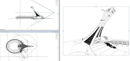Press kit | 952-17 - Press release | A New Silhouette for the Montréal Tower - Provencher_Roy - Commercial Architecture - Plans of Montréal Tower <br> - Photo credit: Provencher_Roy