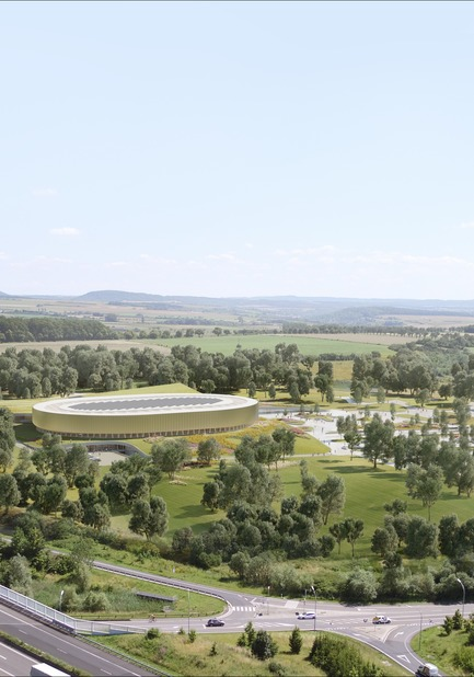 Press kit | 1018-07 - Press release | Metaform and Mecanoo Win the International Competition to Design the First Velodrome in Luxembourg - Metaform architects - Competition - Velodrome and Sports Complex - Photo credit: Mecanoo