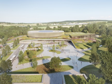 Press kit   1018-07 - Press release   Metaform and Mecanoo Win the International Competition to Design the First Velodrome in Luxembourg - Metaform architects - Competition - Velodrome and Sports Complex - Photo credit: Mecanoo
