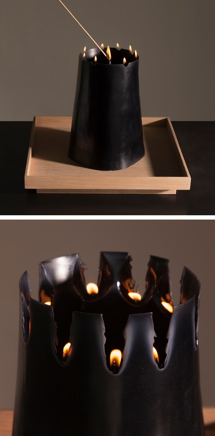 Dossier de presse | 2757-06 - Communiqué de presse | UMÉ Studio Unveils New Limited Edition Items - UMÉ STUDIO - Produit - The stages of the Candle Pit as it burns.  - Crédit photo : William Boice
