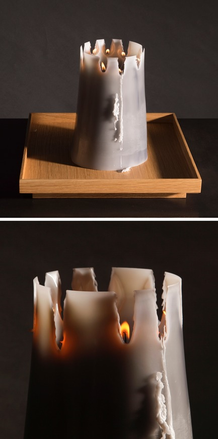 Dossier de presse | 2757-06 - Communiqué de presse | UMÉ Studio Unveils New Limited Edition Items - UMÉ STUDIO - Product - The stages of the Candle Pit as it burns. <br> - Crédit photo : William Boice