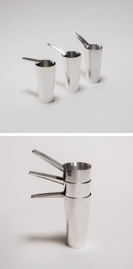 Press kit | 2757-06 - Press release | UMÉ Studio Unveils New Limited Edition Items - UMÉ STUDIO - Product - The Sake Tampo Silver Cups are inspired by the themes of worship and ritual.  - Photo credit: UME Studio