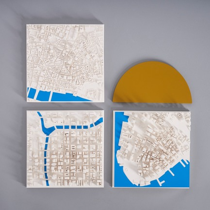 Press kit | 2253-07 - Press release | A Small World Filled With Big Ideas - Chisel & Mouse - Product - London - Chicago - New York 'Blue River' Cityscapes by Chisel & Mouse - Photo credit: Chisel & Mouse