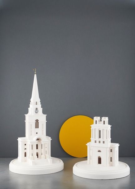 Press kit | 2253-07 - Press release | A Small World Filled With Big Ideas - Chisel & Mouse - Product - Nicholas Hawksmoor's Christ Church and St Mary Woolnoth London Churches by Chisel & Mouse - Photo credit: Chisel & Mouse
