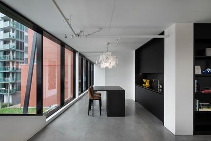 Press kit | 625-18 - Press release | Desjardins Bherer Office - Desjardins Bherer - Commercial Interior Design - Kitchen area - Photo credit: Adrien Williams
