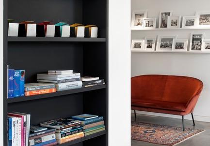 Press kit | 625-18 - Press release | Bureau Desjardins Bherer, Montréal - Desjardins Bherer - Commercial Interior Design - Detail (bookcases and portfolio) - Photo credit: Adrien Williams