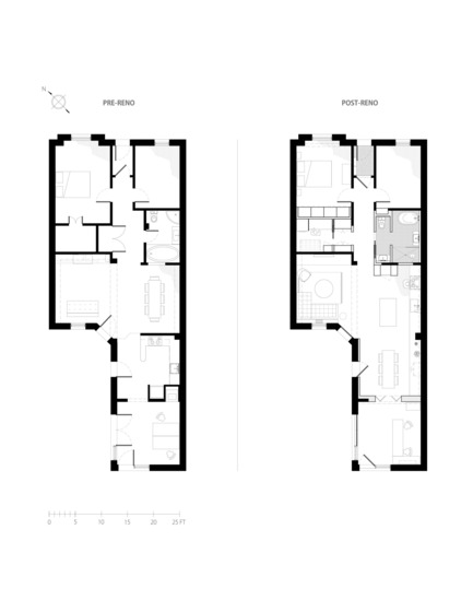 Press kit | 2370-01 - Press release | Hutchison Flat - Atelier SUWA - Residential Architecture - Plans: before and after  - Photo credit: Atelier SUWA