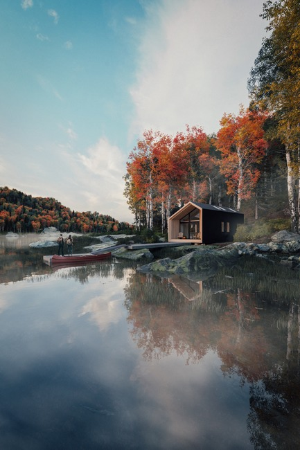 Press kit | 1176-19 - Press release | 2019 Interior Design Show Expands with Redesigned Show Floor and New Trade-Only Exhibition - Interior Design Show (IDS) - Event + Exhibition - Backcountry Hut - Photo credit:  The Backcountry Hut Company and Leckie Studio, renderings by Plus Visual